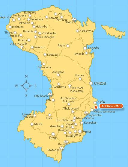 Chios Greece Megas Limnionas